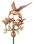Weathervane - Hummingbird w/ Flowers Weathervane