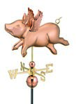 Weathervane - Flying Pig Weathervane
