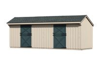 10 x 24 Shed Row Barn - Tan