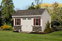 Shed - Vinyl Quaker Shed - 12 x 18