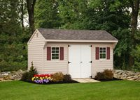 Shed - Vinyl Quaker Shed - 10 x 16