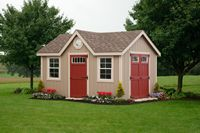 Shed - New England A-Frame Shed w/ Dormer - 12 x 16