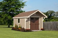 Shed - New England Cape Shed w/ Overhang - 10 x 14