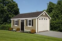 Garage - New England Cape Garage - 12 x 20