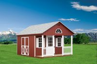 Shed - Cape Shed w/ Porch - 12 x 16