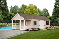 Shed - Vinyl Cape Shed w/ Porch - 12 x 28