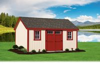 Shed - New England A-Frame Shed - 12 x 16