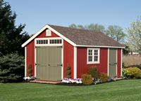 Shed - New England Cape Shed - 12 x 16