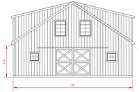 34x32 High Country - Rear Elevation