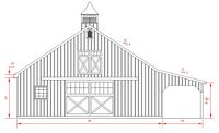 36x36 High Country Plan - Front Elevation