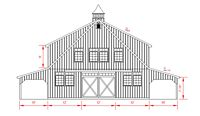 36x72 High Country - Front Elevation