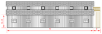 36x72 Monitor Barn - Left Elevation