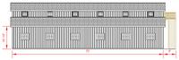 36x72 Monitor Barn - Left Elevation