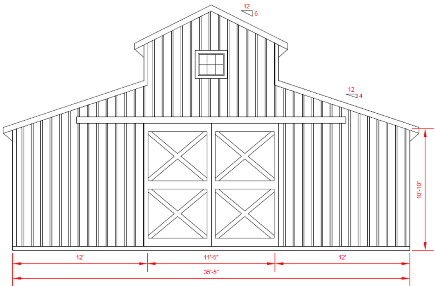 Hayloft door size tuesday august 27 2013 sc 1 st for Monitor style barn plans