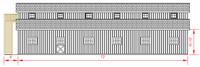 36x72 Monitor Barn - Right Elevation