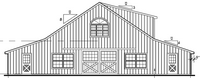 60x70 High Country Retail Space - Front Elevation