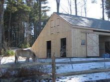 Modular Horse Barn - Carriage Style Modular Horse Barn - 32 x 30