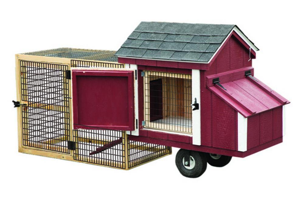 Portable chicken coop chicken tractor coop randyu0027s for Portable chicken coop on wheels