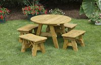 Outdoor Furniture - Wood 32 Inch Round Child's Table