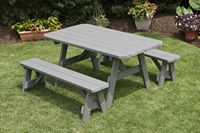 Outdoor Furniture - 3'x5' 3 Piece Poly Table