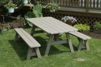 Outdoor Furniture - 3'x6' 3 Piece Poly Table
