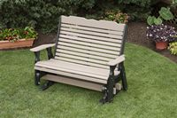 Outdoor Furniture - 4' High Back Glider Poly