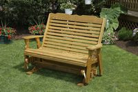 Outdoor Furniture - Wood 4' High Back Glider