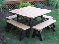 Outdoor Furniture - Poly 4'x4' 5 Piece Set