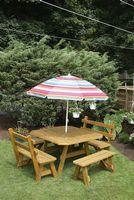 Outdoor Furniture - 4'x4' Border 5 Piece Set