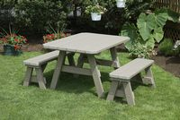 Outdoor Furniture - Poly 4'x4' Square 3 Piece Set