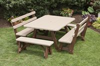 Outdoor Furniture - Poly 4'x5' 5 Piece Set