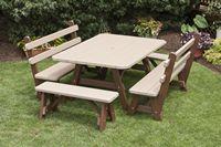 Outdoor Furniture - Poly 4'x5' 5 Piece Set