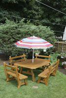 Outdoor Furniture - Wood 4'x5' Border 5 Piece Set