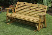 Outdoor Furniture - Wood 5' Glider