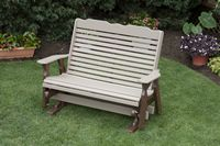 Outdoor Furniture - 5' High Back Glider Poly