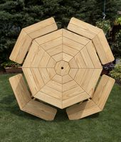 Outdoor Furniture - Wood 56 Inch Octagon Table