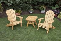 Outdoor Furniture - Folding Chair, Rounded Coffee Table & Fan Back Chair