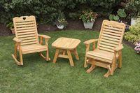 Outdoor Furniture - High Back Rocker, Oval Table, Glider