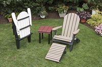 Outdoor Furniture - Poly Folding Chair & Collapsible Foot Rest