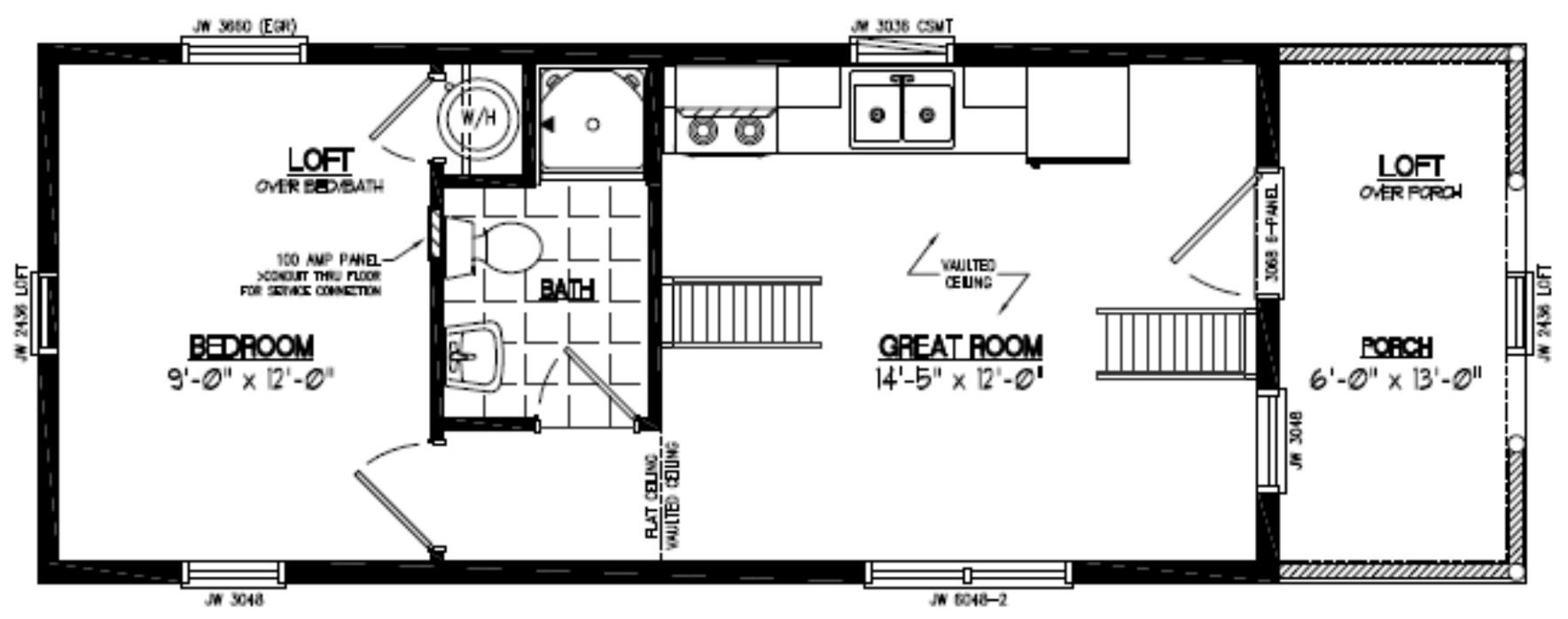 Adirondack Floor Plan 13AR802