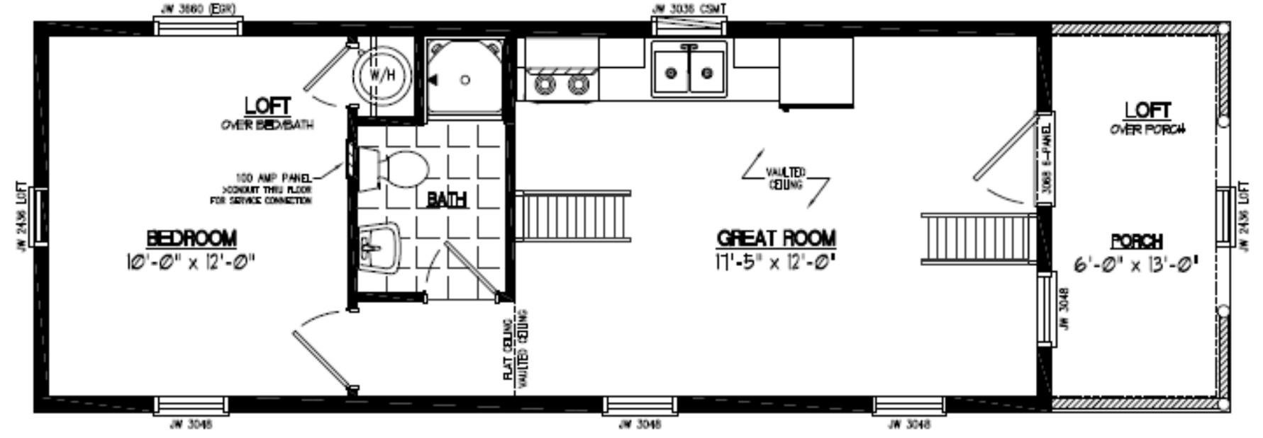 Adirondack Floor Plan 13AR803