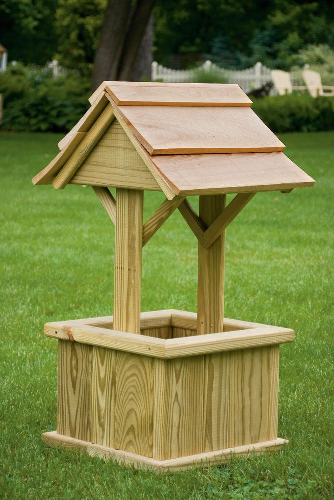 Outdoor Wishing Well Plans for Pinterest
