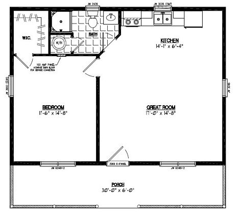 28x30 lincoln plan 28ln902 custom barns and buildings for 28x30 garage plans