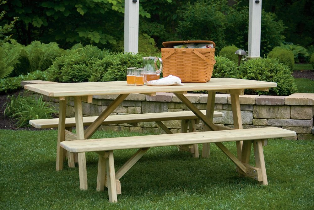 table t33pt 3 x3 patio table t48 4 x8 picnic table w b66 66 benches w