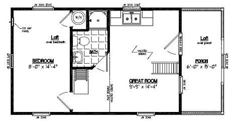 Recreational Cabin - Adirondack Log Sided Recreational Cabin - 15 x 30