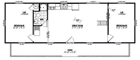 Recreational Cabin - Cape Cod Log Sided Recreational Cabin - 15 x 48