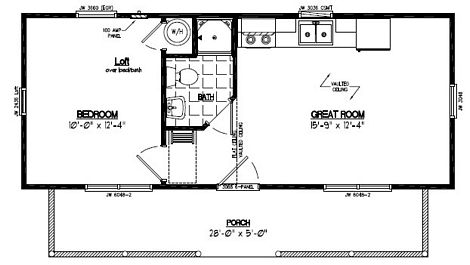 Recreational Cabin - Cape Cod Log Sided Recreational Cabin - 13 x 32