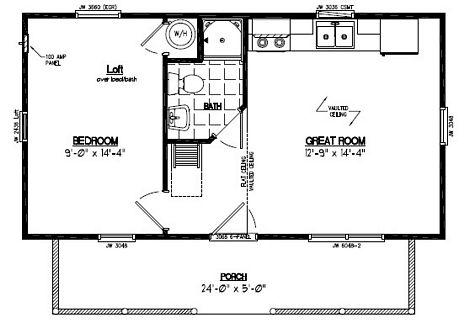 Recreational Cabin - Cape Cod Log Sided Recreational Cabin - 15 x 28