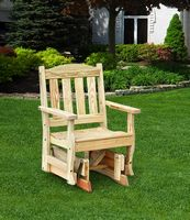Outdoor Furniture - Wood English Garden Glider Chair