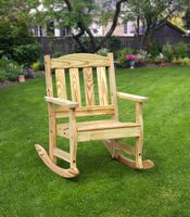 Outdoor Furniture - Wood English Garden Rocker Chair